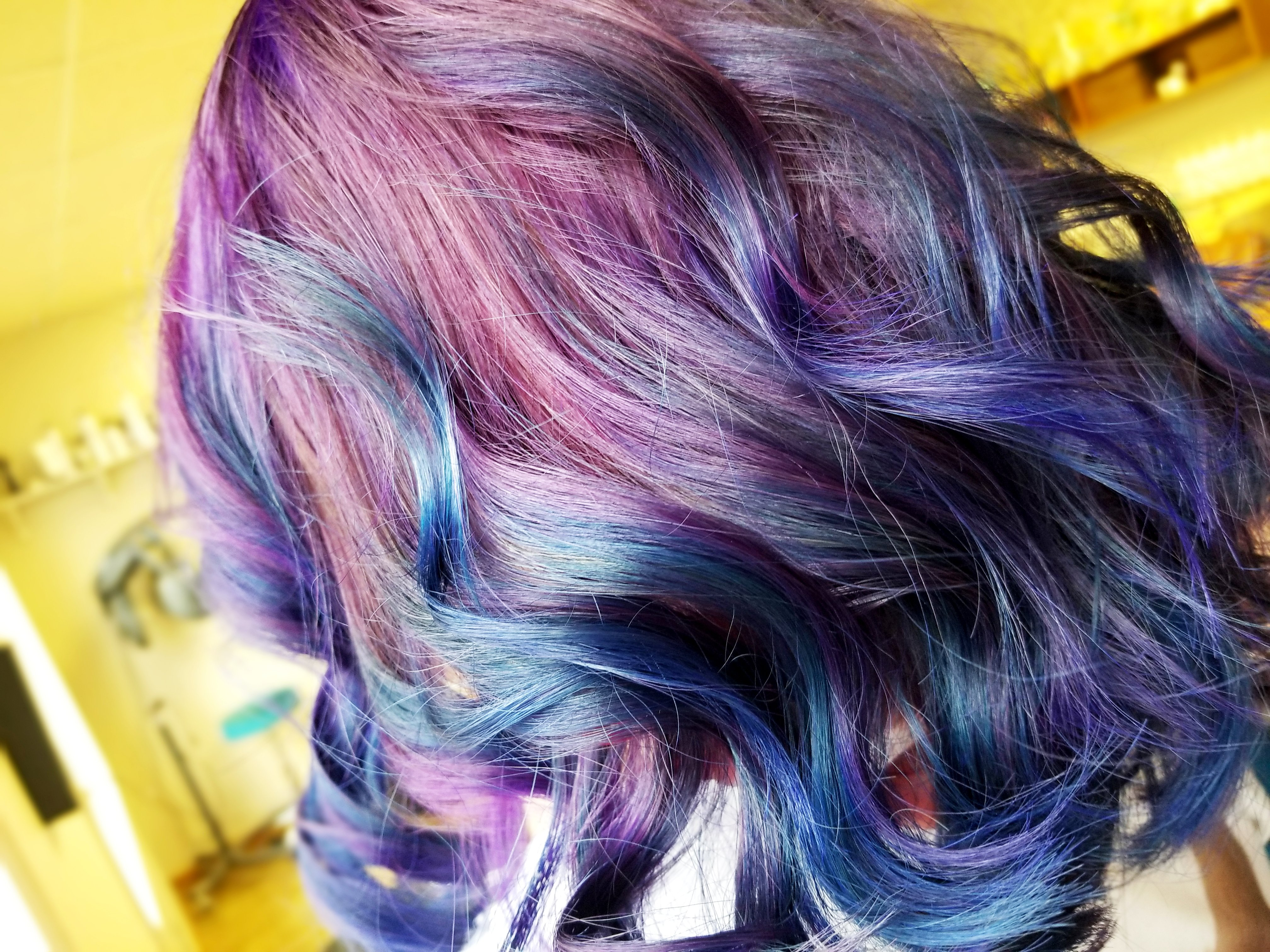 Purple And Blue Hair Color Iowa City Vivids Hair Haven Hair